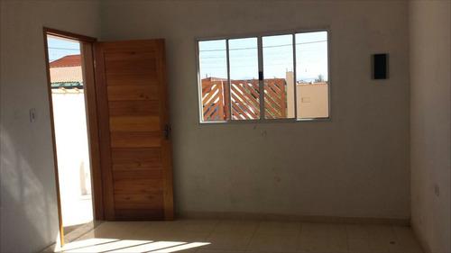 ref.: 89 - casa em itanhaém, no bairro balneário gaivota - 2 dormitórios