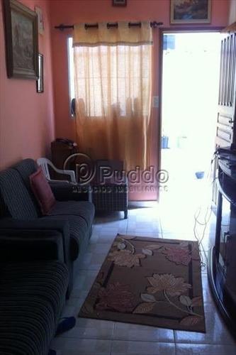 ref.: 970 - casa condomínio fechado em praia grande, no bairro vila sônia - 2 dormitórios