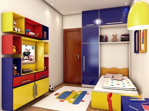 ref.: 989 - apartamento em praia grande, no bairro guilhermina - 2 dormitórios