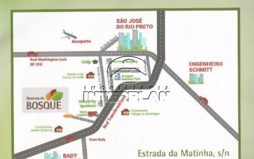 ref.: la90033/01, terreno condominio, bady bassitt - sp, cond. reservas do bosque