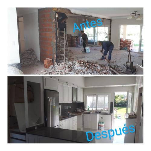 refacción construcción remodelación bano cocina casa oficina