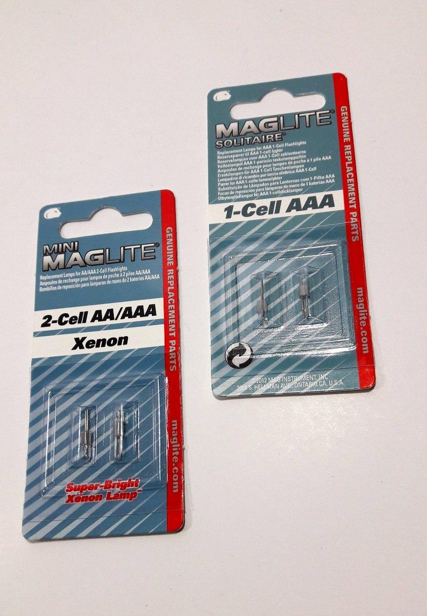 Mag-Lite Solitaire  LK3A001U Bombillas de reposici/ón para lamparas de mano de bater/ía AAA