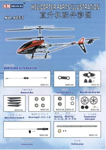 refacciones para helicópteros 9053  y  9101