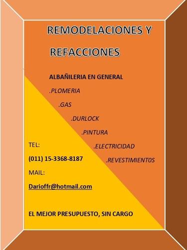 refacciones y remodelaciones