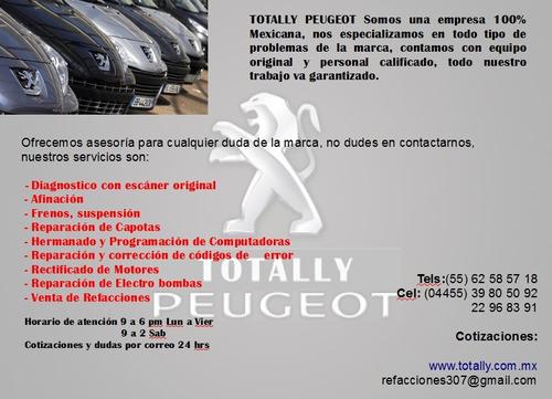 refacciones y servicio peugeot 307 cc