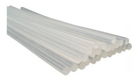 refil bastao cola quente transparente fina 7,5mm x 30cm 5kg