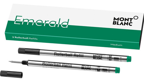 refil caneta mont blanc rollerball verde com 2 unidades