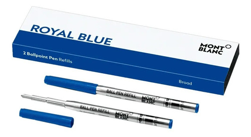 refil carga montblanc esfero ballpoint azul b broad cx 2 un