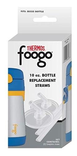 refil com 2 canudo para garrafa thermos foogo bs535