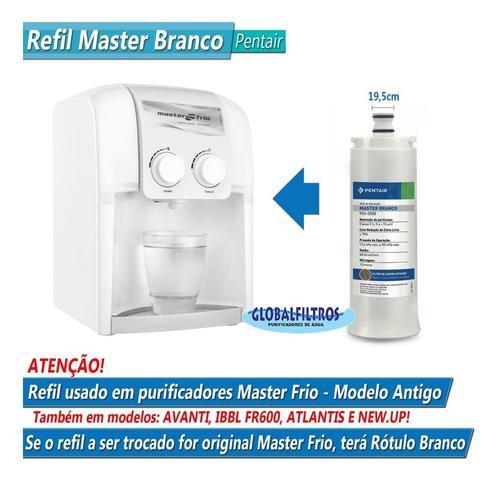 refil de reposição para purificador modelo masterfrio branco