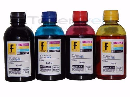refil de tinta para epson impressora stylus tx115 - 4x250ml