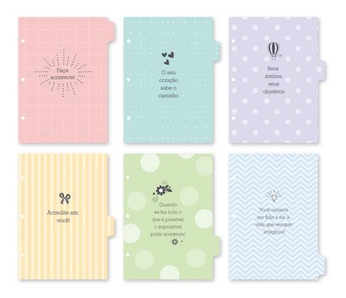 refil divisórias coloridas caderno argolado fina ideia