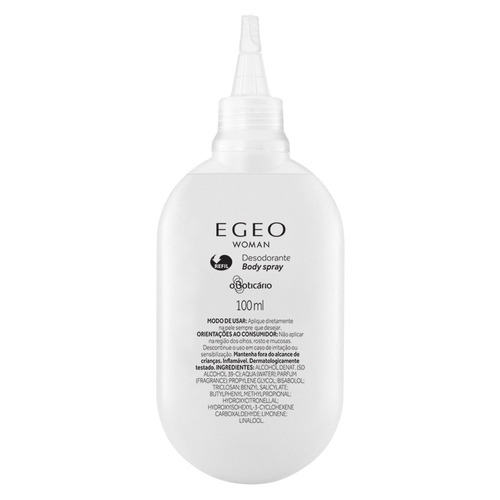 refil egeo desodorante body spray blue 100ml