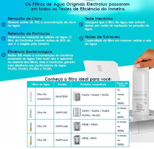 refil filtro electrolux para purificadores pe11b e pe11x