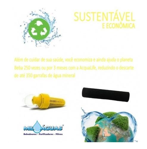 refil filtro garrafa squeeze acqualife 500ml