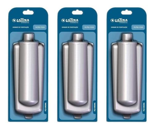 refil filtro latina puritronic, puriice e p355 - kit c/ 03