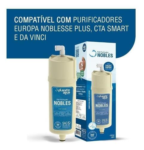 refil filtro purificador europa noblesse plus, cta e davinci