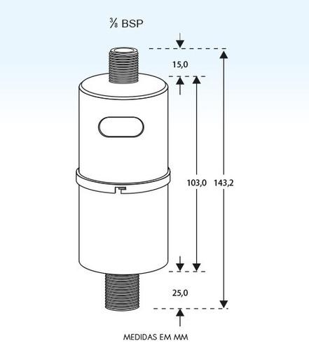 refil filtro zufer zuflow bebedouro de pressão diversos