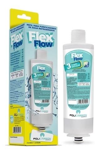 refil flex flow policarbon compatível com purificador libell