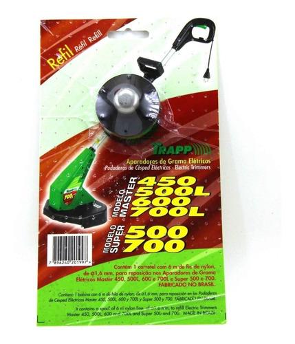 refil nylon cortador aparador trapp master 450/500l/600/700l