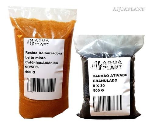 refil p deionizador / ro resina mista 50/50%, carvão