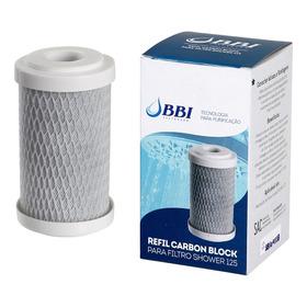 Refil Para Filtro De Chuveiro E Ducha Shower Bbi Shower125 5 Carvão Ativado Remove Cloro Rep-shower Carbon Block