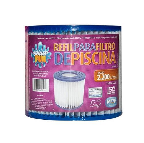 refil para filtro de piscina 2.200 l/h mor