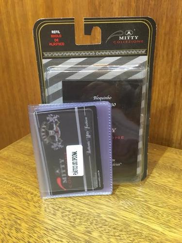 refil para porta cartão mitty plástico   - plpc