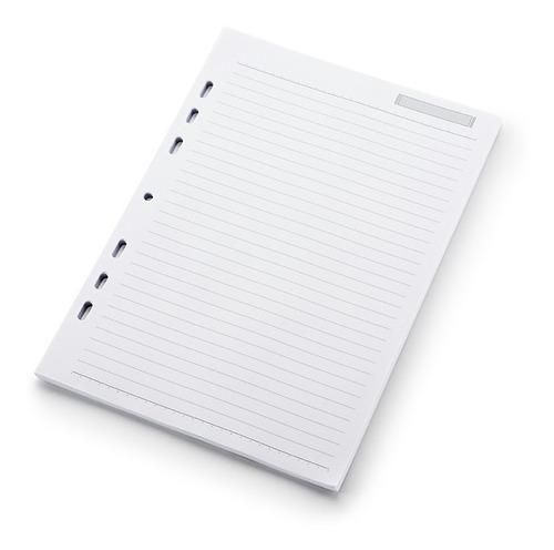 refil planner org  6 argolas - pautado-a5 - kit 4 unid