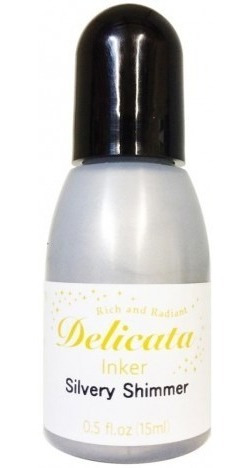 refill silvery shimmer delicata pigment ink