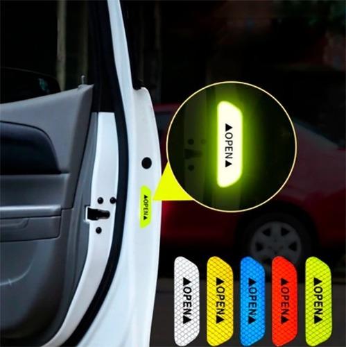 reflectivo adhesivo cinta seguridad puerta carro camioneta