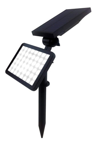 reflector 48 led solar estaca luz jardin pared 2 en 1 garage