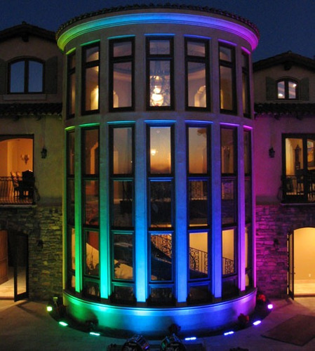reflector 50w rgb led mas control lampara exterior ip 65