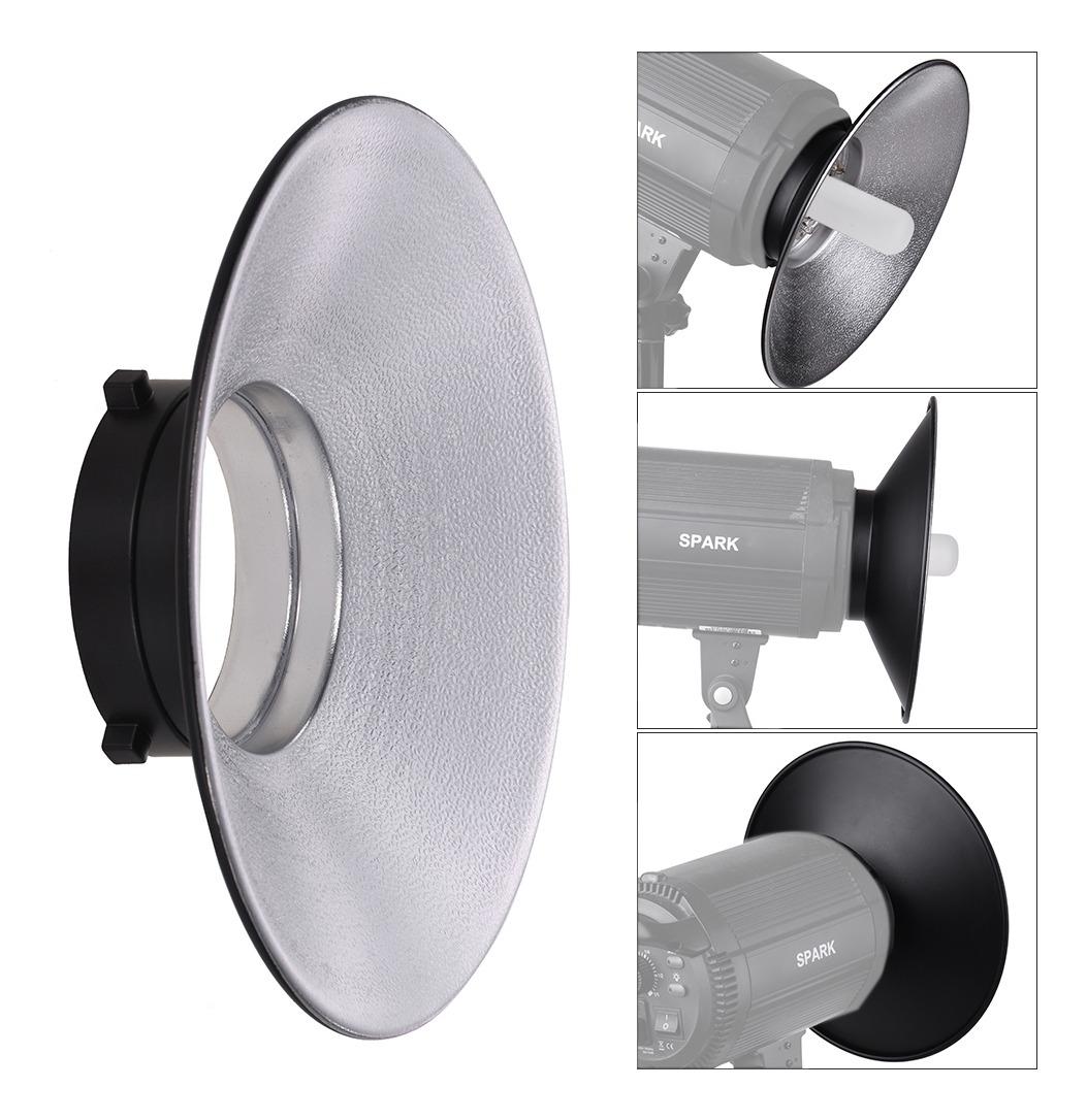120 ° grados de ángulo ancho 22 Cm Reflector-Luz de estudio Bowens S Tipo eficiente