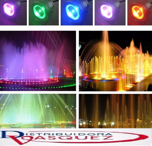 reflector lampara led rgb sumergible impermeable piscinas