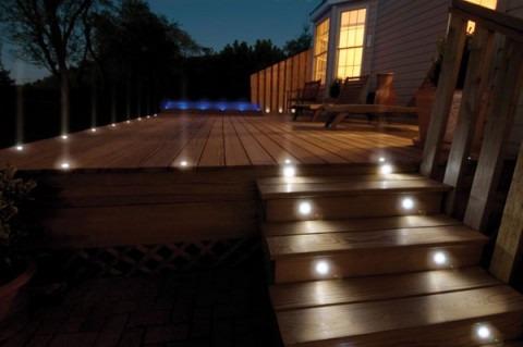 reflector lampara luz led para pisos empotrable impermeable