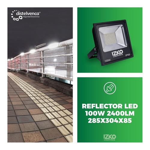 reflector led 100w 2400lm 285x304x85