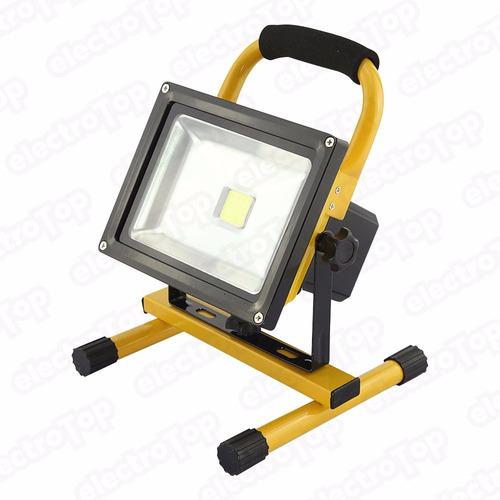 reflector led 10w recargable 12v 220v camping conector auto