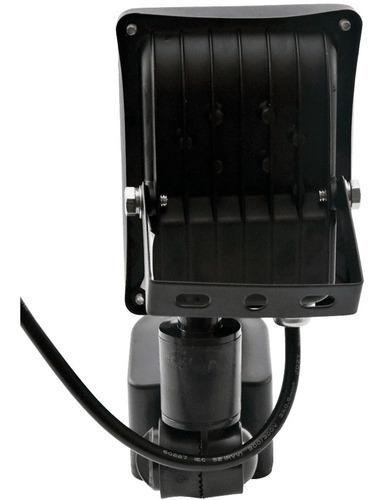 reflector led 10w sensor movimiento 220 exterior blanco frio