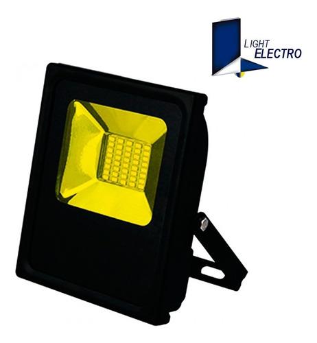 reflector led 20w color fijo (rojo, amarillo)