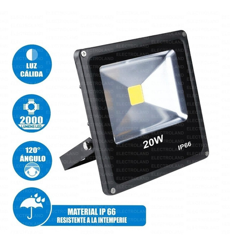 reflector led 20w multi led ahorro exterior ip66 bco oferta2