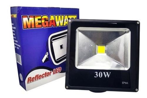 reflector led 30w blanca luz dia 6000k megawatt rf-008 (u.e.