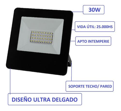 reflector led 30w blanco frio alta potencia exterior ip65