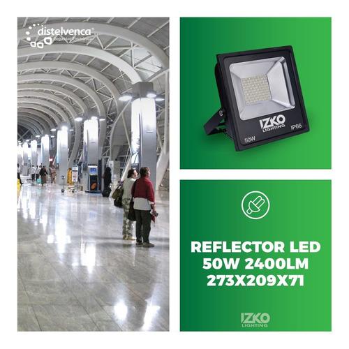 reflector led 50w 2400lm 273x209x71