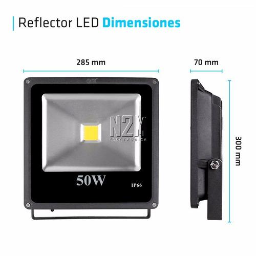 reflector led 50w bajo consumo alta potencia exterior blanco