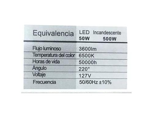 reflector led 50w luminario potente iluminación ultra delgad