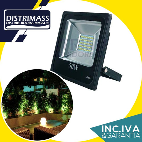 reflector led 50w potente resiste lluvia inc iva y garantia