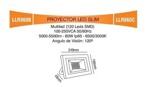 reflector led 60w luz fría / cálida mas que 50w