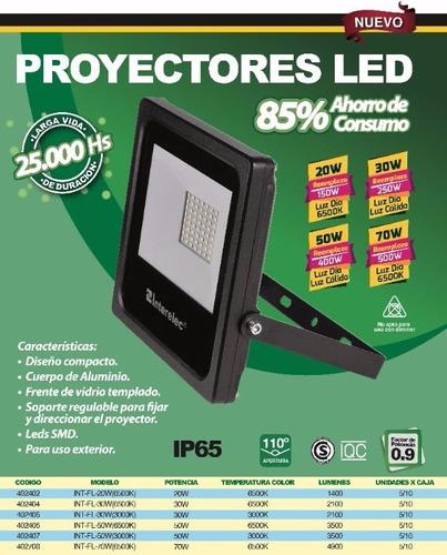 reflector led  70w interelec 4900 lumens x 3 unid.