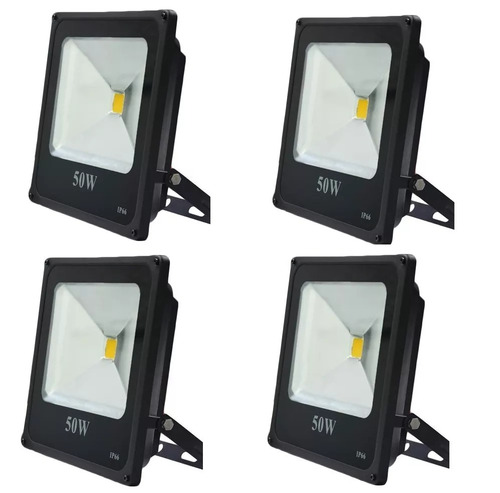 reflector led blanco 50w bajo consumo exterior pack x4